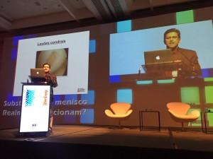 Dr. Victor palestra sobre lesões da cartilagem do joelho, na Jornada Lyonesa